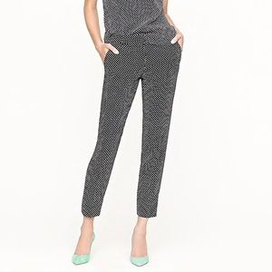 J.Crew Cafe Capri Tiny Dot NWT
